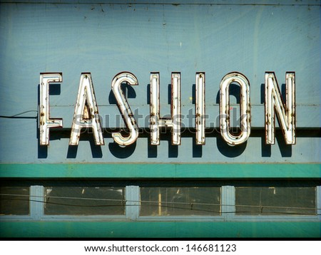 aged and worn vintage neon...