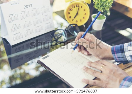 2018 Agenda Calendar for timetable planning. note agenda for business.Calendar Event Planner Planning Agenda and Schedule using calendar,clock to set timetable on organize schedule.Timeline concept.