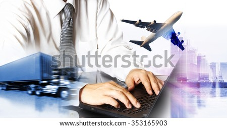 airline airplane flight path travel plans.freight cargo plane in transport and import-export commercial logistic ,shipping business industry