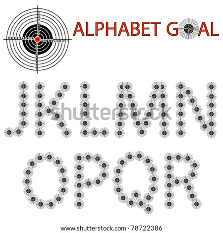 alphabet of the target, hit the target