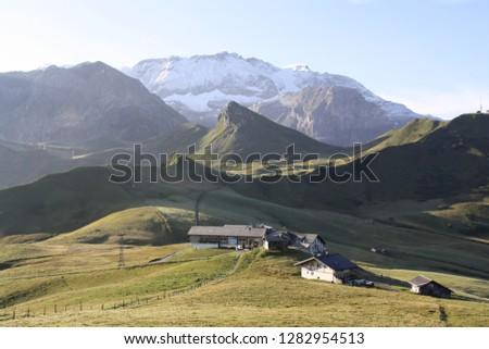 Alpine meadows landscape #1282954513