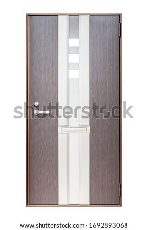 Aluminum door isolated on white background