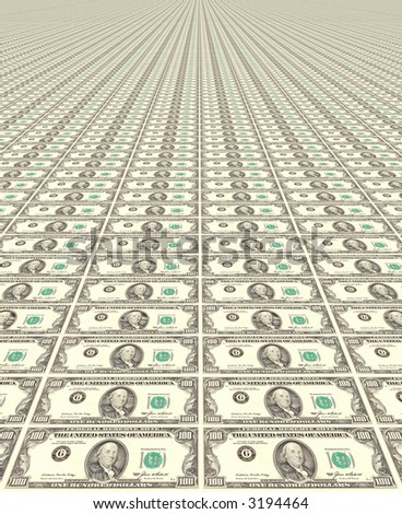 American dollars - stock photo