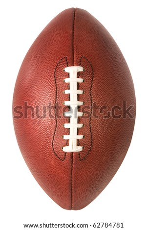 American Pro Football over top view with clipping path