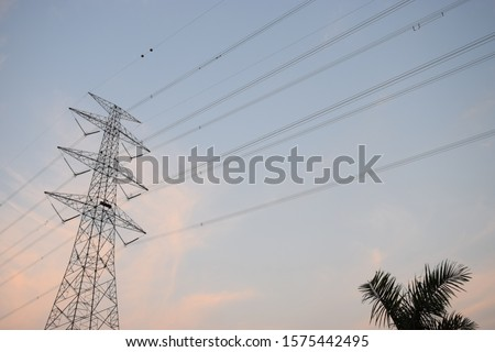An air power line is a structure used in the transmission and distribution of electricity to deliver electricity to distant places