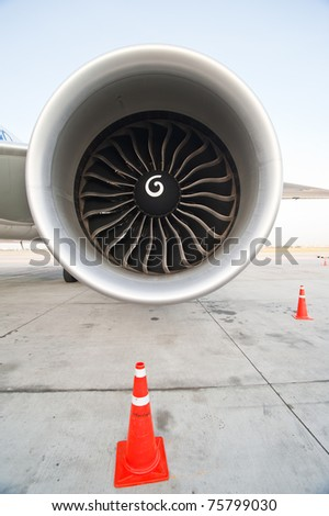 an aircraft jet engine