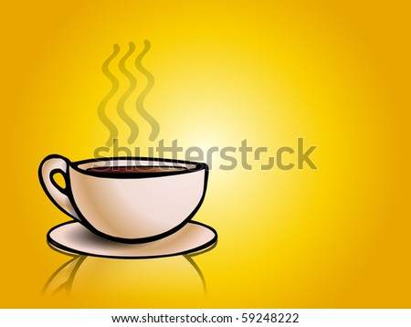 an illustration view of nice warm coffee cup