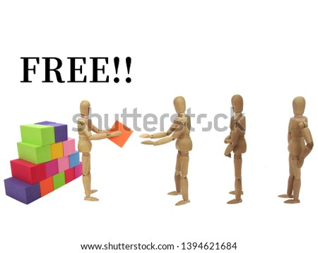 An image of distributing things for free #1394621684