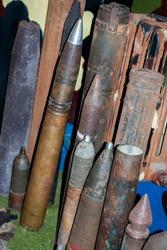 An old post-war ammunition collection was found
