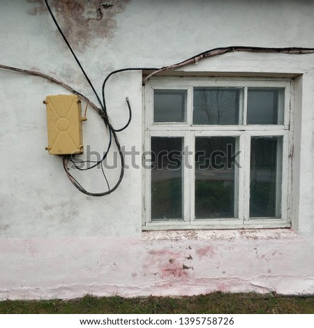 Miraculous Old White Brick Wall And Electric Wire Images And Stock Photos Wiring Digital Resources Indicompassionincorg