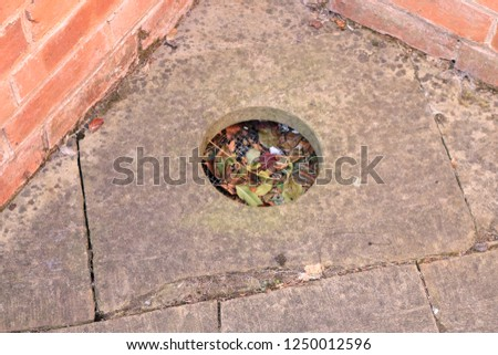 An outside privy hole toilet from the grounds of an English workhouse.