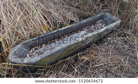 .Ancient canoe from ancient times