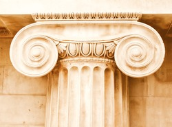 Ancient greece ionic capital picture vintage