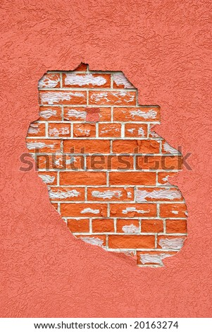 """""""Another brick in the wall"""" background with space for text or image"""