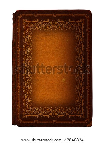12 Antique book with decoration stamped in gold, from nineteenth century