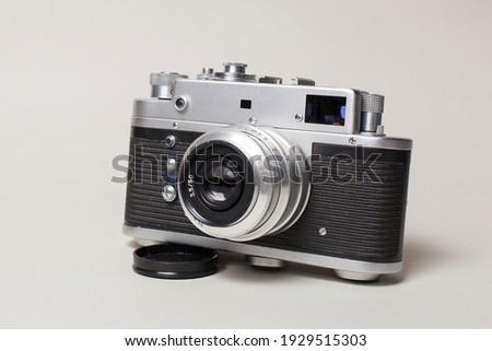 Antique camera on a light background Сток-фото ©