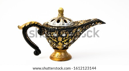 antique Lantern lamp aladdin lamp  genie lamp
