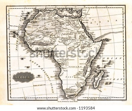 1799 Antique Map of Africa