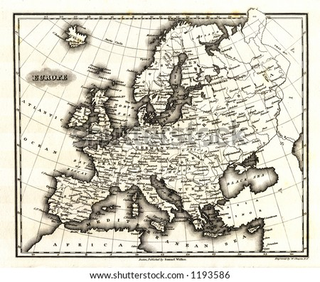 1799 Antique Map of Europe