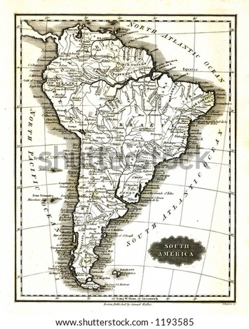 1799 Antique Map of South America