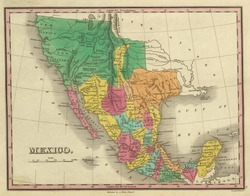 1831 antique map of Texas, California  and Mexico Out of copyright