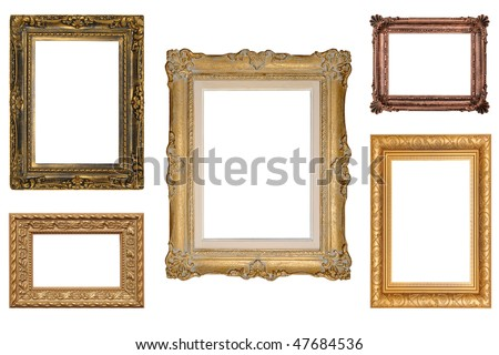 5 Antique Picture Frames