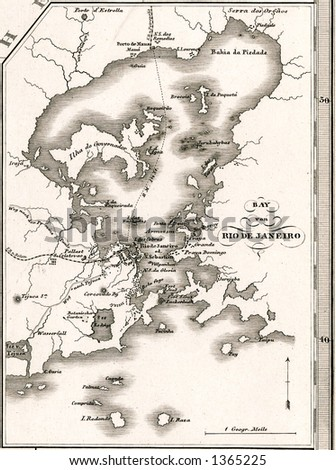 1875 antique stieler map of...