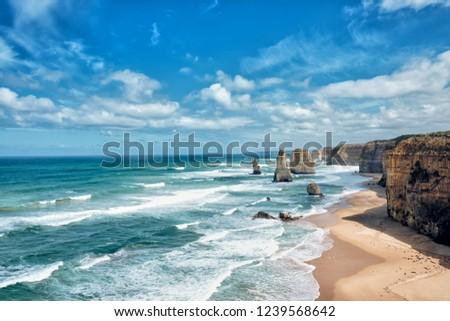 12 Apostles Scenic view, Pacific Ocean, Victoria, Australia