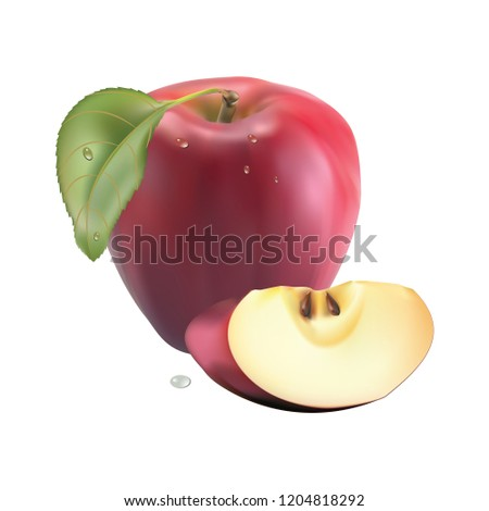 apple on the white Background. Texture. Arts. Fruit #1204818292