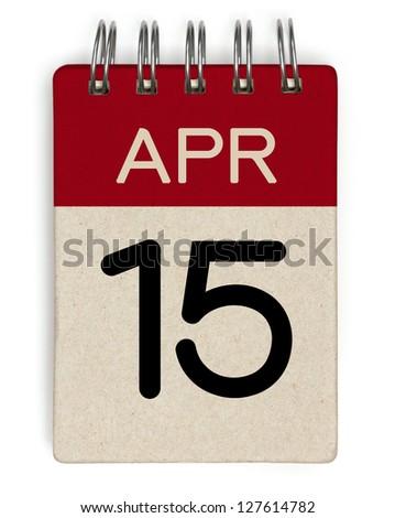 15 april Calendar