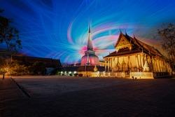 10 April 2020, Sunset View, Mahathat Temple, Nakhon Si Thammarat Province, Thailand