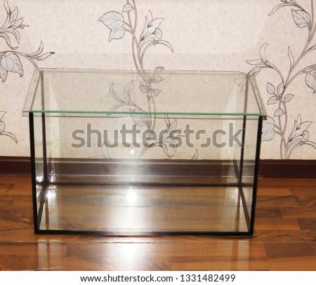 Aquarium, empty for aquarium fish. #1331482499