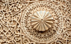Architectural details of entrance Gate wall of 500 year old Golconda fort,Hyderabad,India
