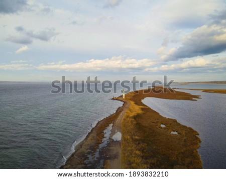 Çardak Sand Island Drone Shot Stok fotoğraf ©