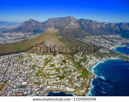 Ariel view of beautiful Cape Town, South Africa. #1109000048