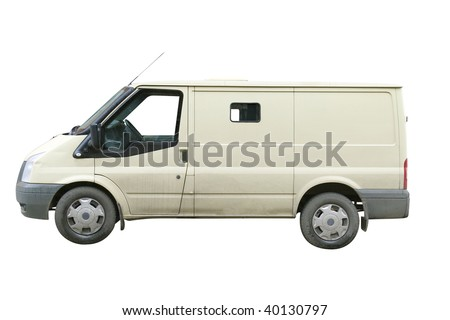 armour car under the white background - stock photo