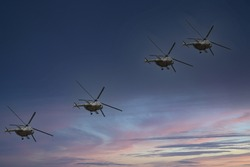 Army helicopter in Long flight