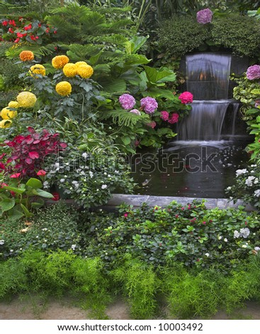 Art of gardeners in the well-known park - stock photo
