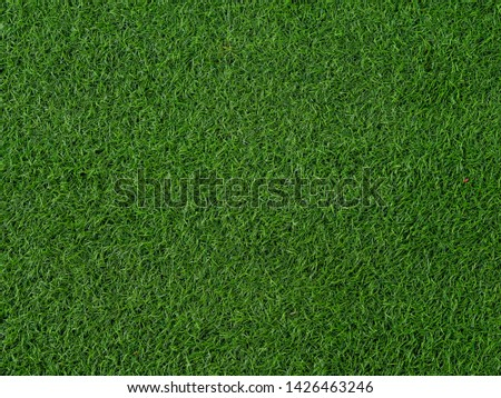 Artificial grass football field background and texture