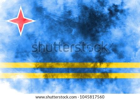 aruba grunge flag  netherlands ...
