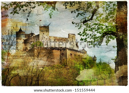 ?astle. artwork in painting style