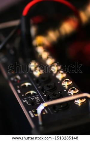 Audio equipment mixer detal picture