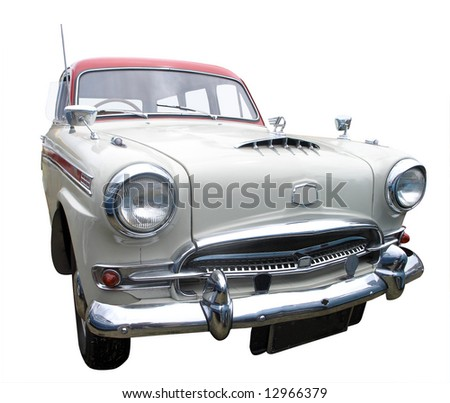 1958 Austin Westminster isolated with clipping path