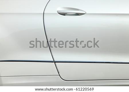 auto bodywork passenger door - stock photo