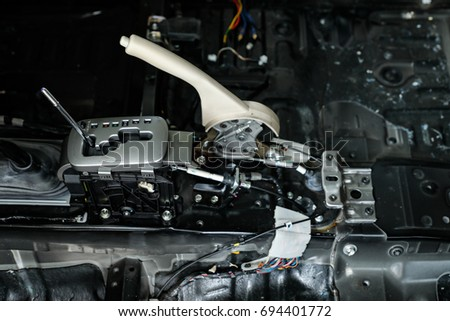 Automatic gearbox. Automatic Transmission. Automatic transmission gear shift. Automotive transmission gearbox. #694401772