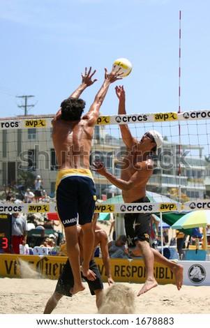 2006 AVP pro beach volleyball tournament at Manhattan Beach, CA