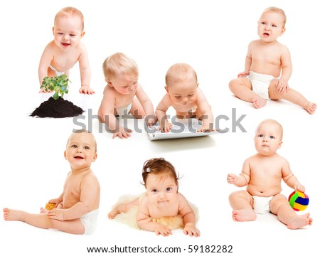 'Babies in diaper' collection