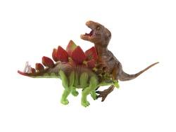 baby denosaur toy isolated on white background
