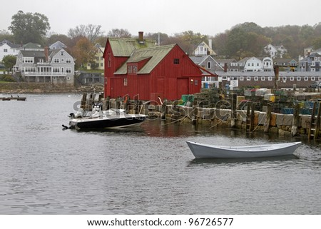 """Back Harbor"" -- The back side of Motif # 1 - Rockport, Massachusetts, USA."