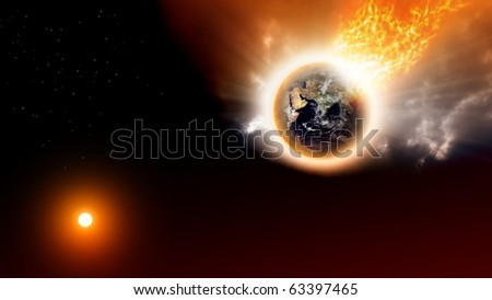2012 background - destroying planet in space